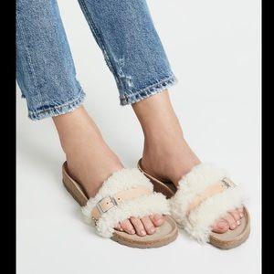 Papillo Birkenstock Carmen shearling sandals 8